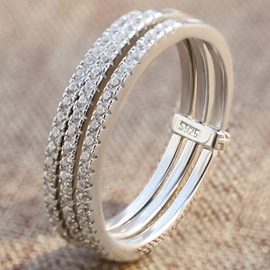 Ericdress Concise Multilayer Beading Ring