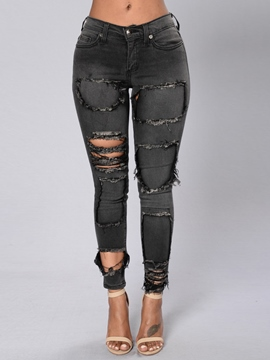 Ericdress Ripped Skinny Jeans