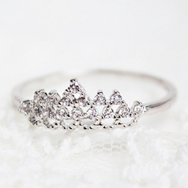 Ericdress Crown Diamante Design Ring