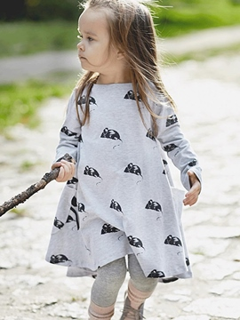 Ericdress Animal Printed Expansion Girls Dress