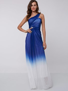 Ericdress Gradient Color A Line One Shoulder Prom Dress