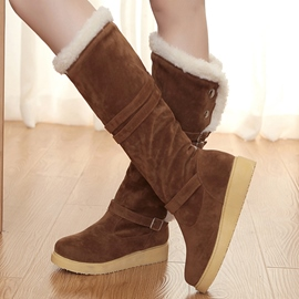 Ericdress Cozy Suede Knee High Boots