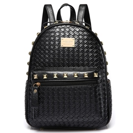 Ericdress Preppy Style Weaved Pattern Backpack