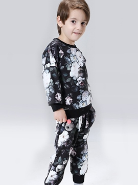 Ericdress Floral Printed Thread Patchwork Two-Piece Boys Outfits