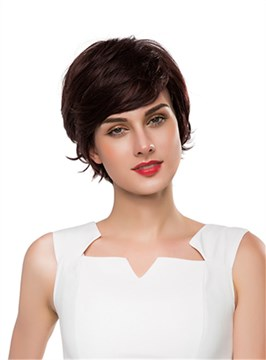 Ericdress Cute Short Wavy Capless Human Hair Wig 10 Inches