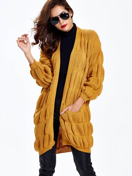 Ericdress Loose Solid Color Lantern Knitwear