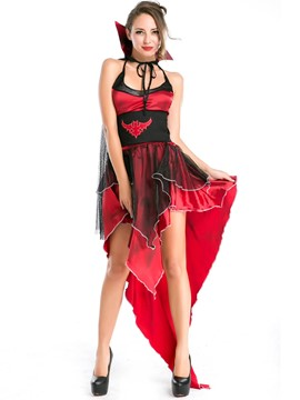 Ericdress Mesh Patchwork Iregular Vampire Cosplay Halloween Costume