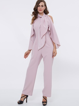 Ericdress Elegant Frill Patchwork Jumpsuits Pants