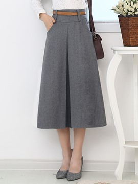 Ericdress Vintage Pleated Skirt