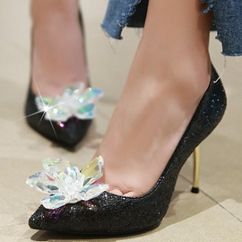 Ericdress Glittering Crystal Sequins Point Toe Pumps