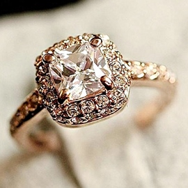 Classic Square Imitation Diamond Ring