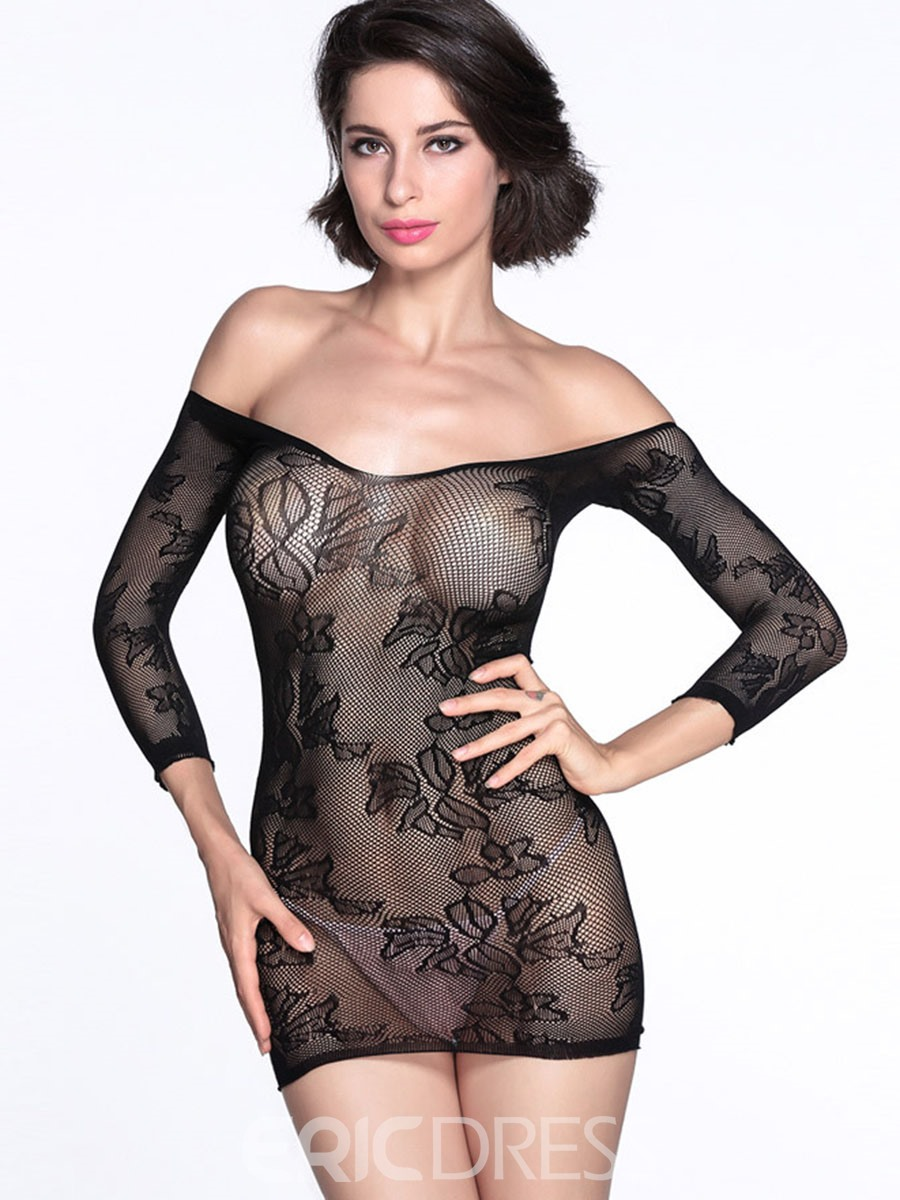 Ericdress Strapless Jacquard Sexy Chemise