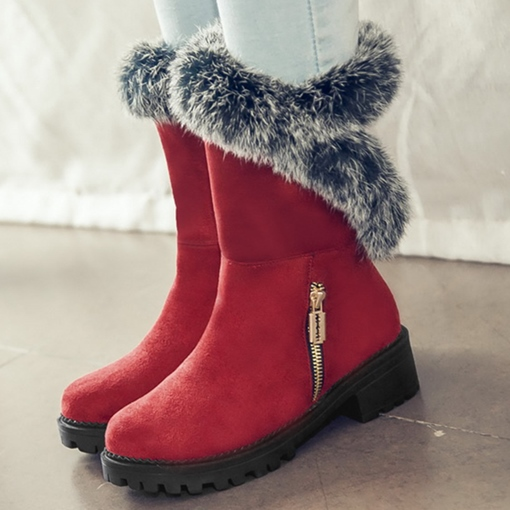 Ericdress Cute Furry Snow Boots