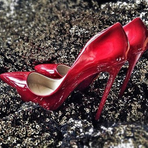 Ericdress Red Patent Leather Point Toe Pumps