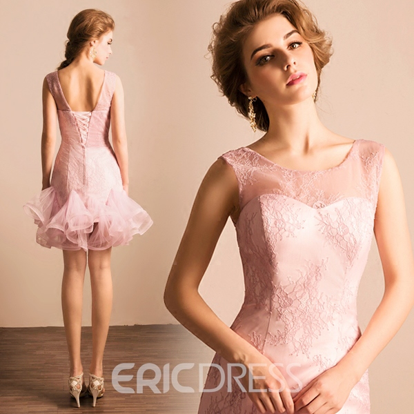 Ericdress Scoop Sheath Lace Short Homecoming Dress