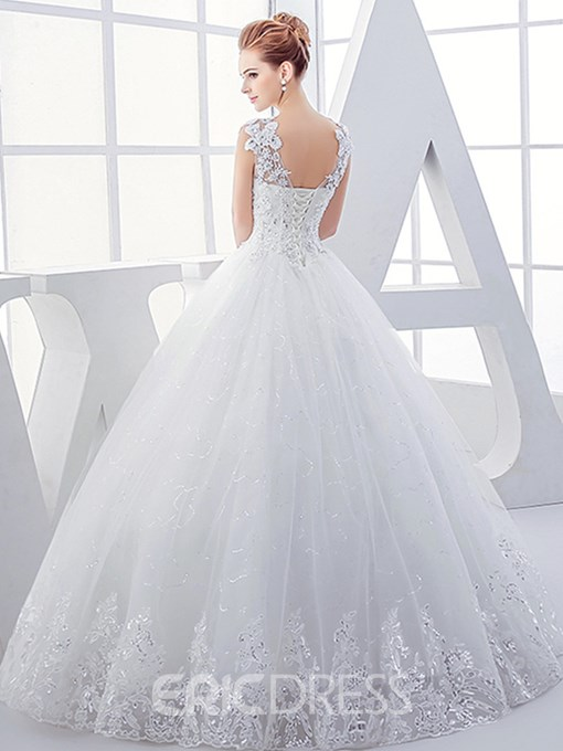 Ericdress Appliques Sequins Beading Ball Gown Wedding Dress