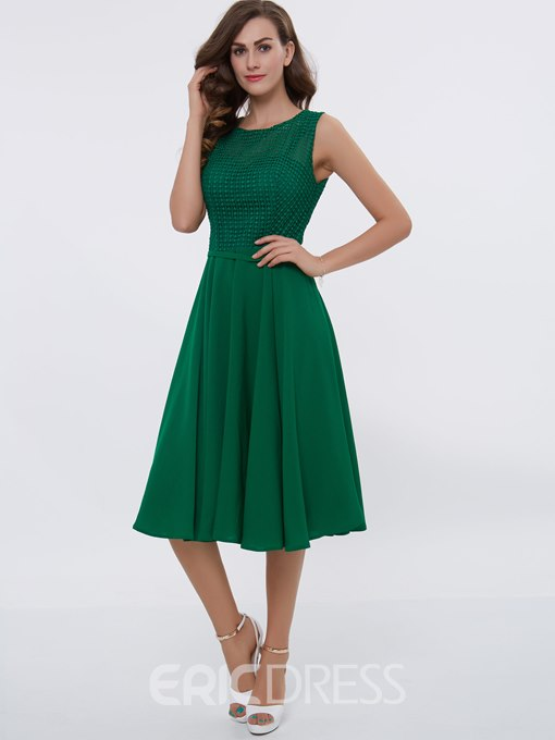 Ericdress A Line Lace Knee Length Casual Dress