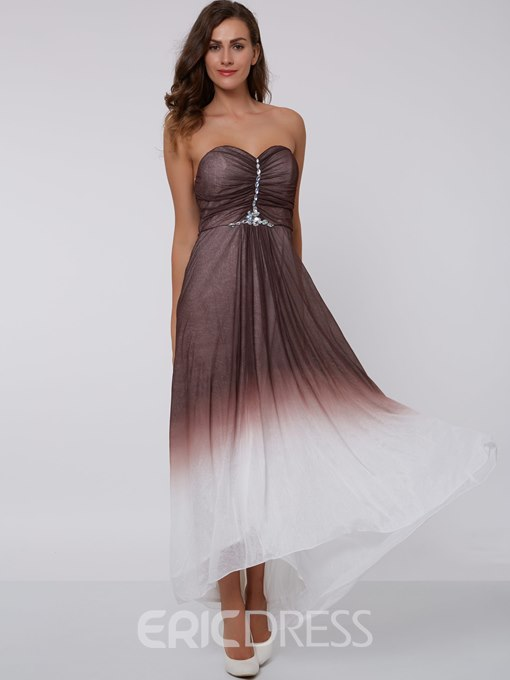 Ericdress A Line High Low Sweetheart Asymmetry Prom Dress