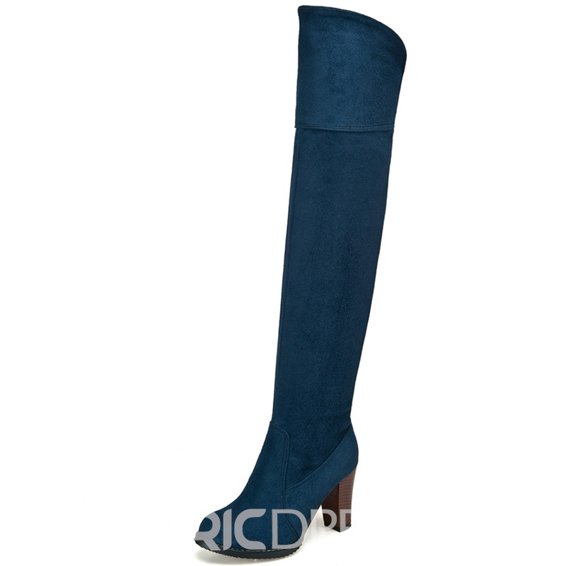 Ericdress Simple Suede Over Knee-High Boots