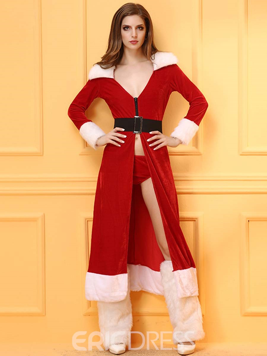 Ericdress Zip Belt Lengthen Santa Cosplay Christmas Costume