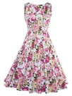 Ericdress Floral Print Patchwork Sleeveless A Line Dress