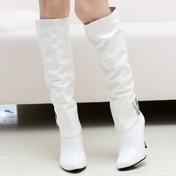 Ericdress Patent Leather Point Toe Knee High