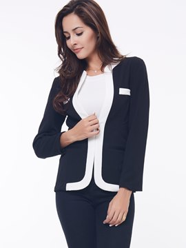 Ericdress Cool Slim Split Joint Blazer