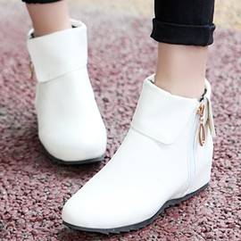 Ericdress Chic Elevator Heel Side Zip Ankle Boots