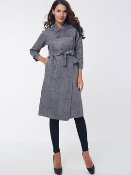 Ericdrss Lace-Up Lapel Trench Coat