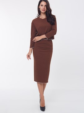Ericdress Fashion Simple Knitwear Suit