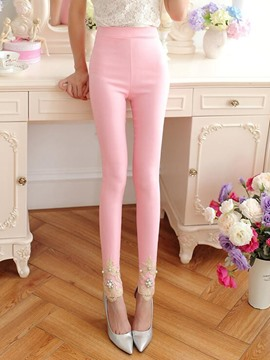 Ericdress Sweet Bead Leggings Pants