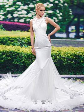 Ericdress Fancy Jewel Mermaid Wedding Dress