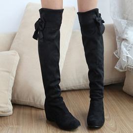 Ericdress Sweet Bowtie ascenseur Heel Knee High bottes