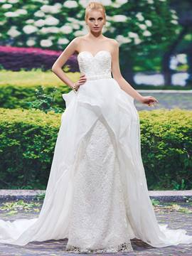 Ericdress Beautiful Sweetheart Sheath Lace Wedding Dress