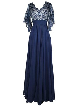 Ericdress elegante V Hals Lace Long Mutter der Brautkleid