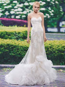 Ericdress Fancy Sweetheart Appliques Mermaid Wedding Dress