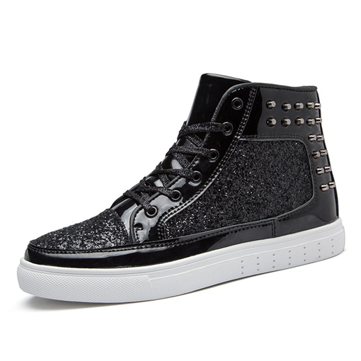 Ericdress Patchwork High-Cut Upper Lace-Up Round Toe Skate Men's Shoes