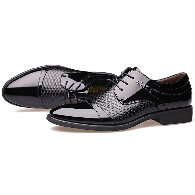 Ericdress England PU Thread Lace-Up Men's Oxfords