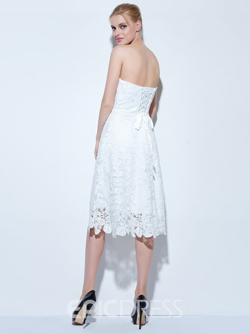 Ericdress A-Line Sweetheart Lace Knee-Length Cocktail Dress