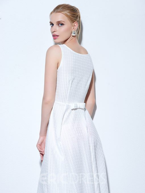 Ericdress A-Line Scoop Bowknot Finished Fabric Cocktail Dress