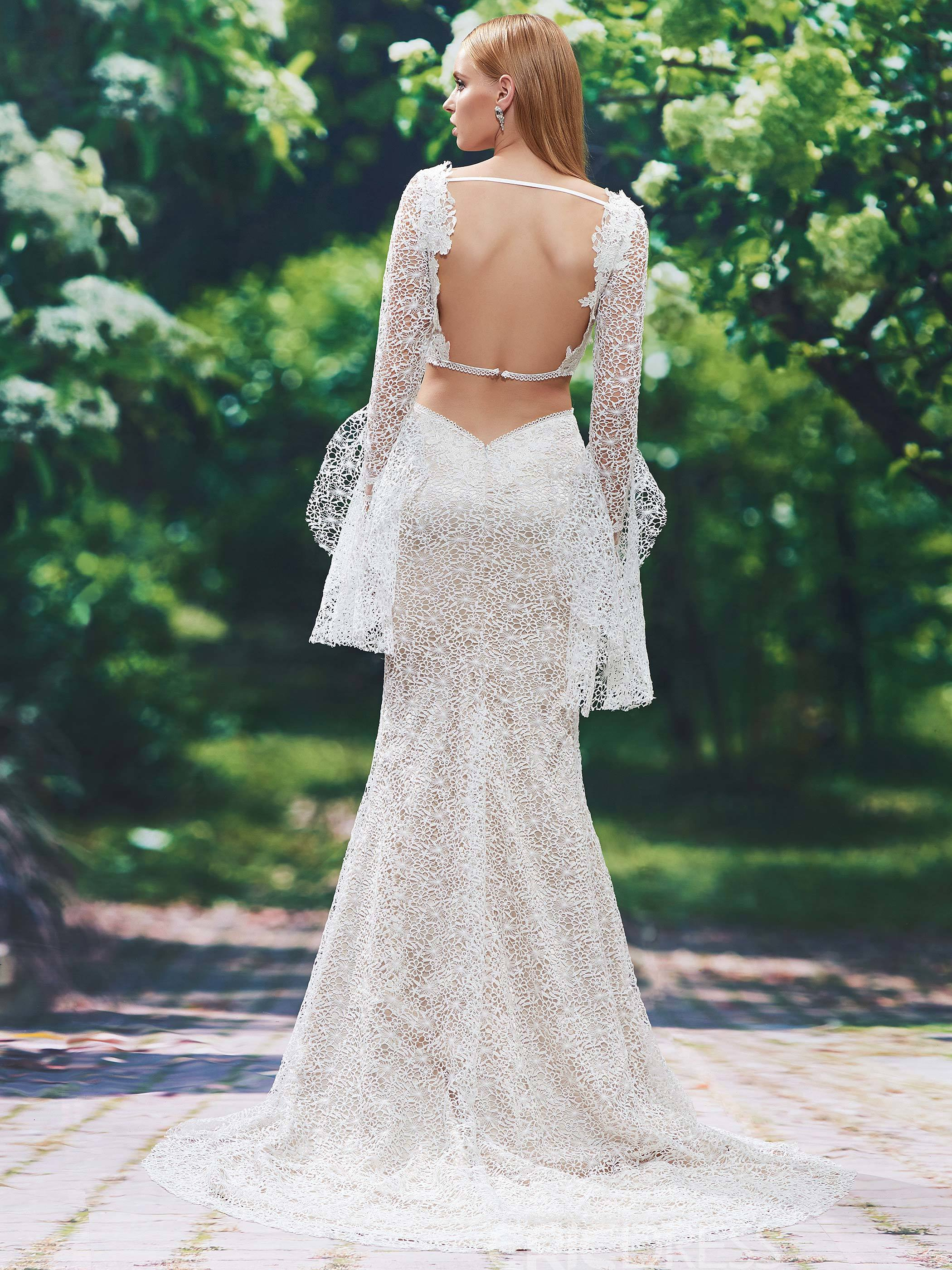 Ericdress Charming Two Pieces Lace Mermaid Wedding Dress With Sleeves
