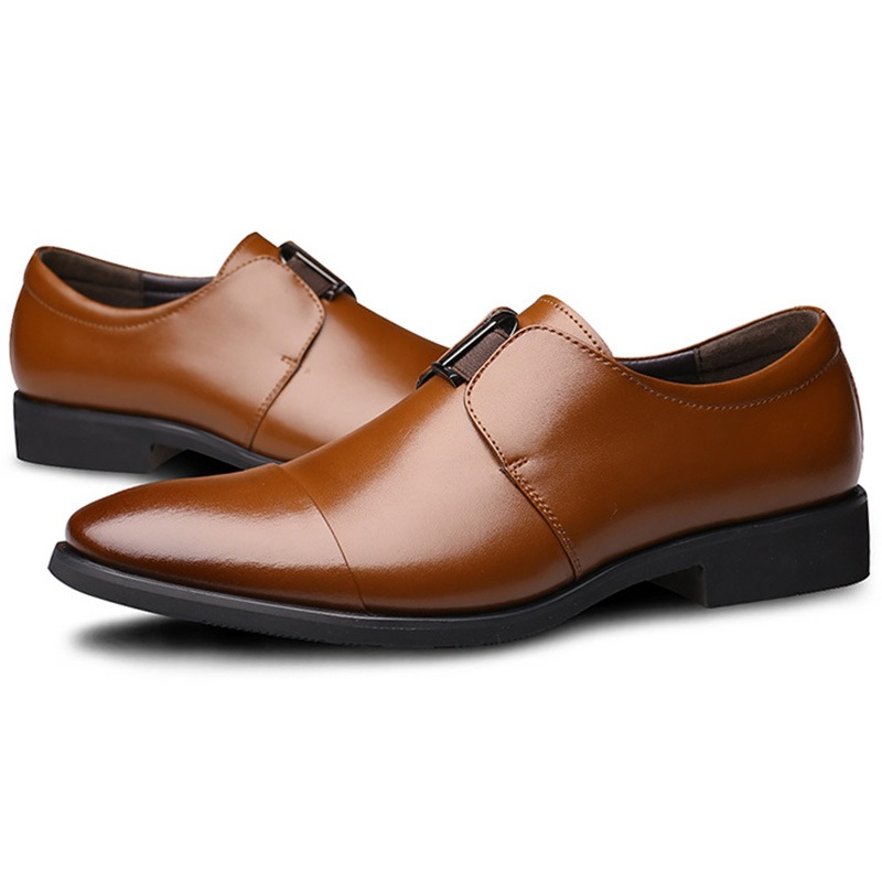 Ericdress Gentleman Solid Color Men's Oxfords
