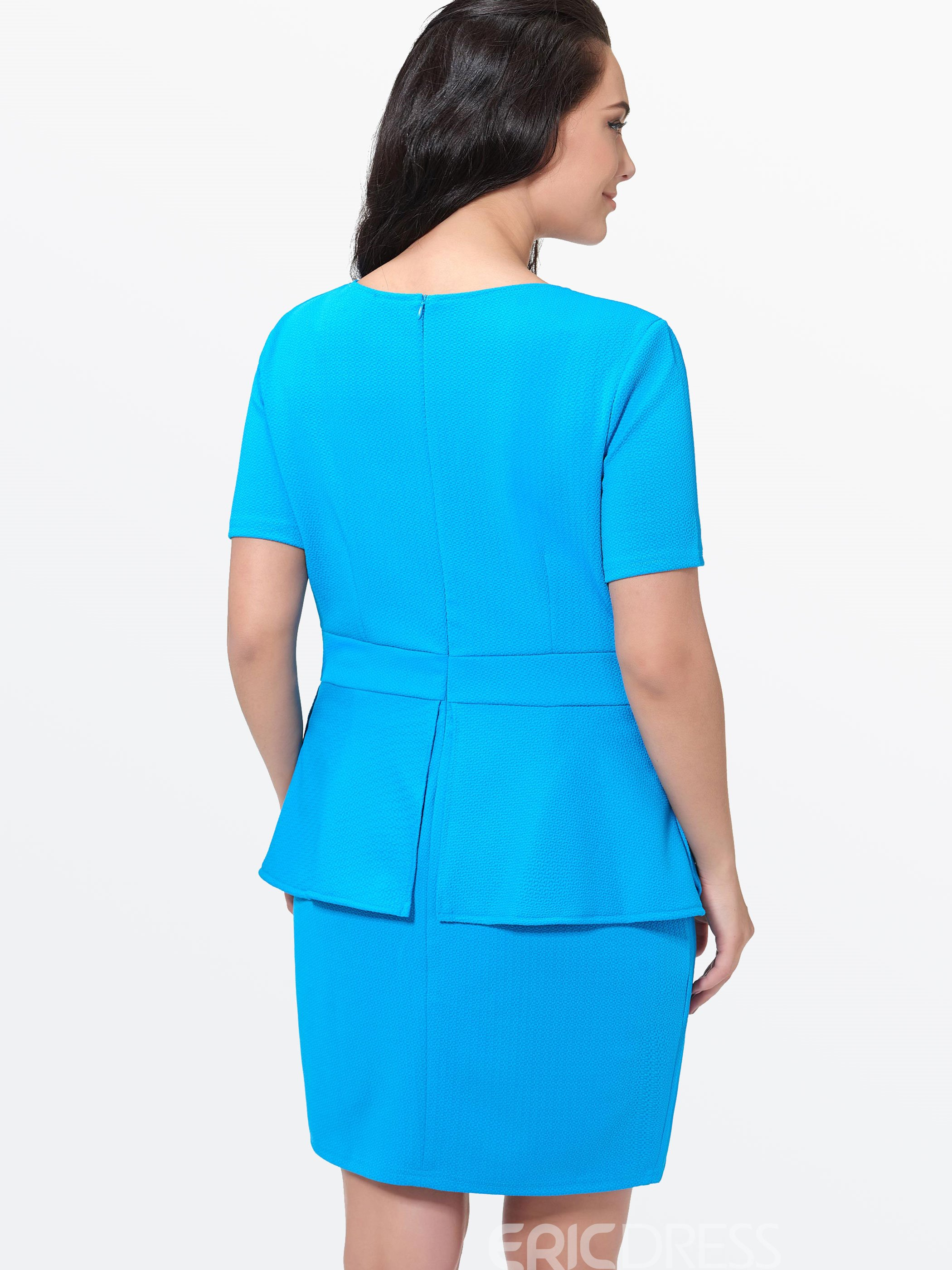 Ericdress Short Sleeve Plain Bodycon Dress