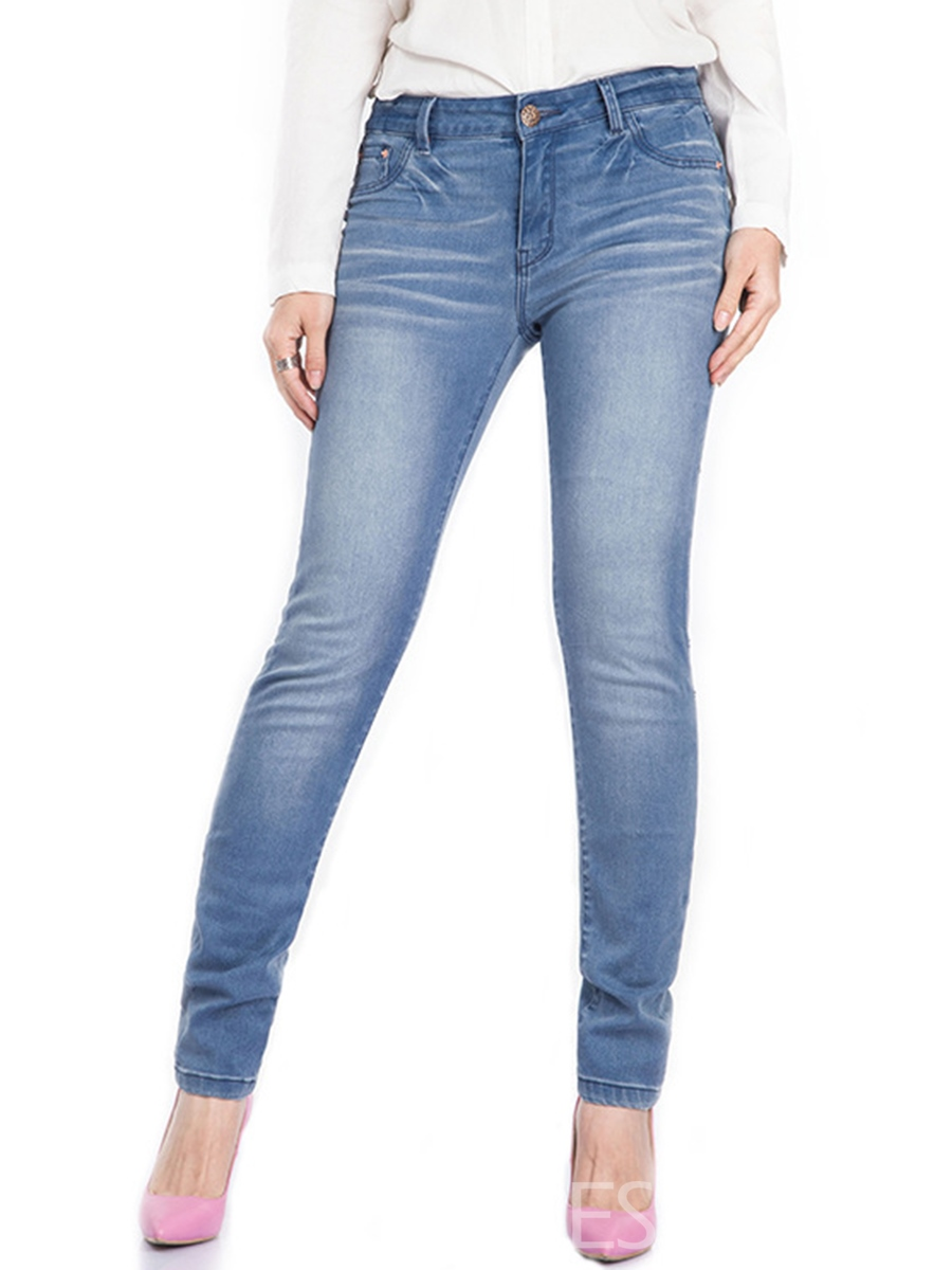 Ericdress Casual Slim Jeans