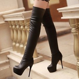 Ericdress Sexy PU Platform Knee High Boots