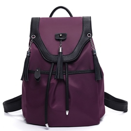 Ericdress Tassel Decorated Canvas Backpack