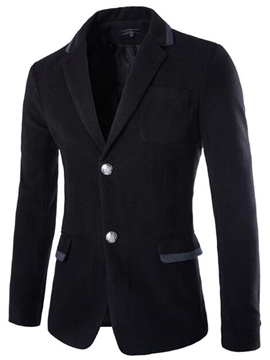Ericdress Single-Breasted Pocket Slim Men's Blazer