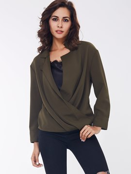 Ericdress Asymmetric Blouse Suit