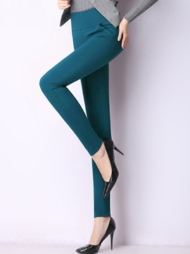 Ericdress Solid Color Slim Leggings Pants