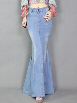 Ericdress Worn Mermaid Maxi Skirt